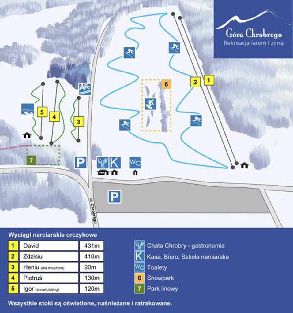 Gora Chrobrego - trasy narciarskie