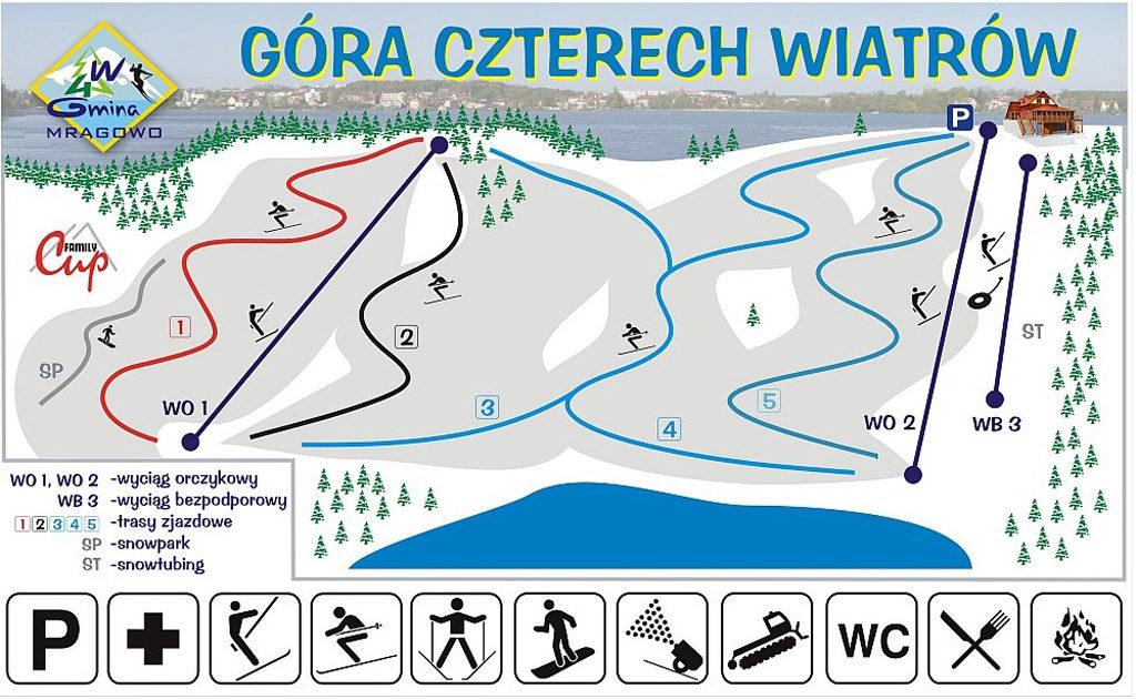 Gora Czterech Wiatrow - trasy narciarskie