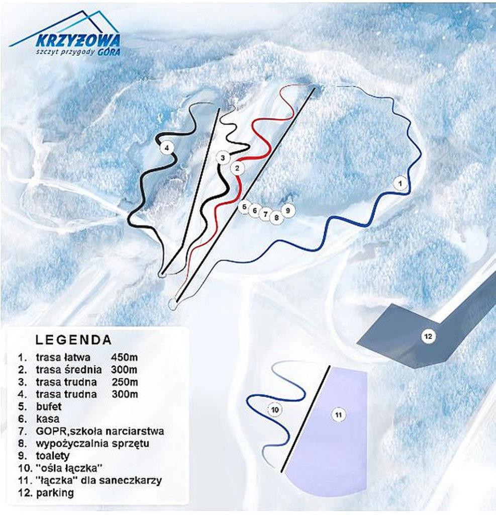 Krzyzowa Gora trasy narciarskie